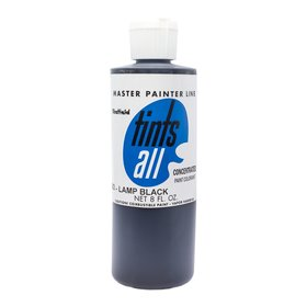 Master Painters, Tints-All, Lamp Black 8oz / 237 ml