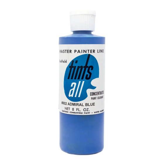 Master Painters, Tints-All, Admiral Blue 8oz / 237 ml
