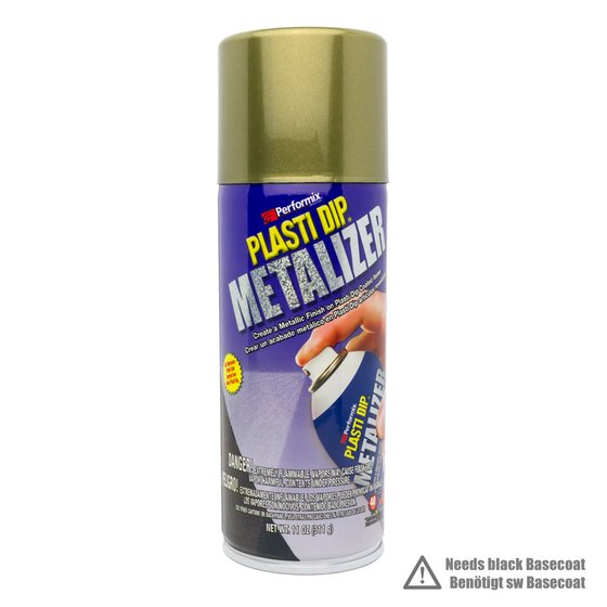 Plasti Dip Spray 325 ml Leucht Gold Metallic / Aerosol 11 oz Bright Gold Metalizer